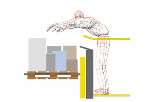 Advanced studies of ergonomics lead to optimized space concept for order picking cabin design for non tiring commissioning process of forklift truck the picture shows CAD based study
