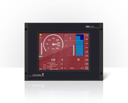 Deuta Werke Multifunctional terminal HMI with touchscreen for train operator stands cost-efficient housing engineering design quickpartners with integrated heat dissipator