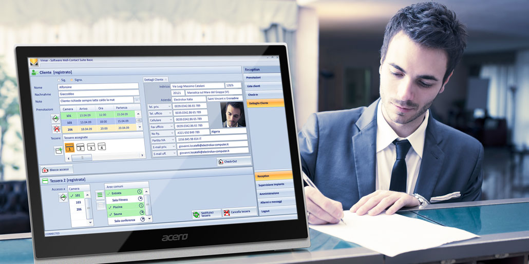 Vimar Well Contact Hotel Management Software Design Quickpartners