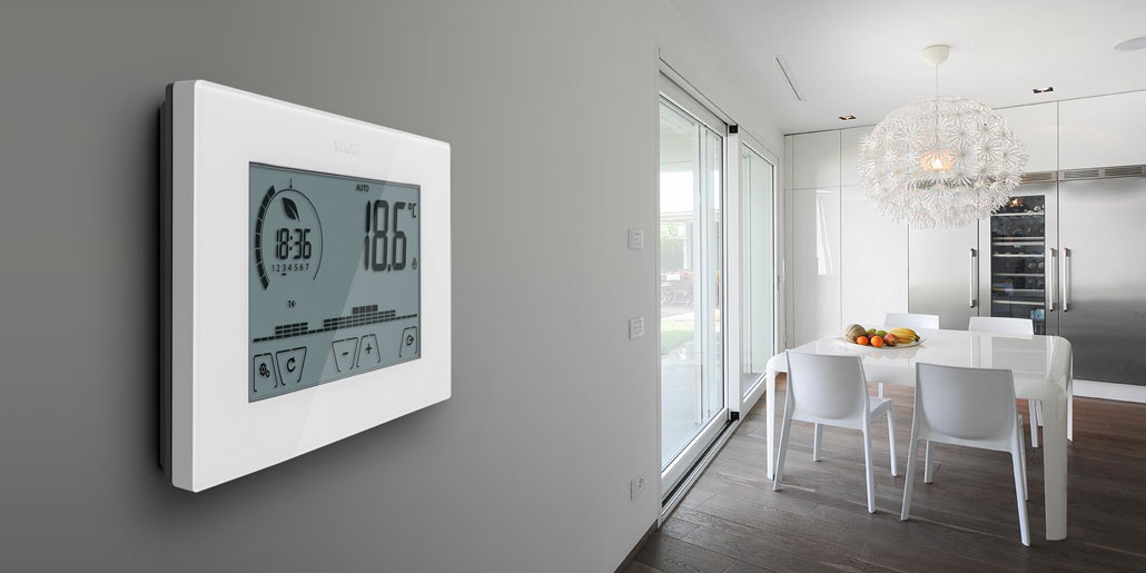 Minimalistic high value design for thermostat tners. in contemporary design villa